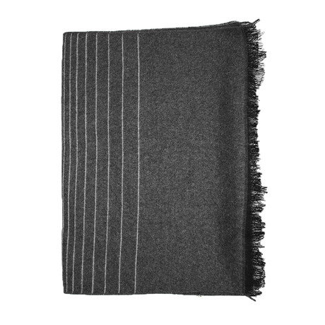 Ombre Striped Scarf // Black + Grey