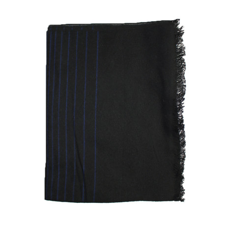 Ombre Striped Scarf // Black + Navy + Grey