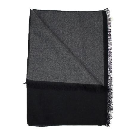 Scarf // Solid Black + Grey
