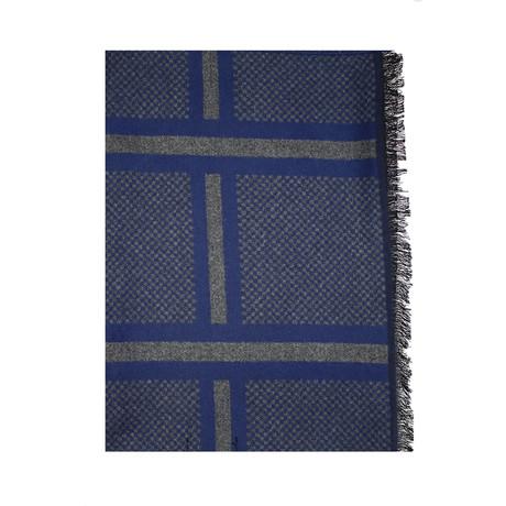 Double Stripe Scarf // Navy + Grey
