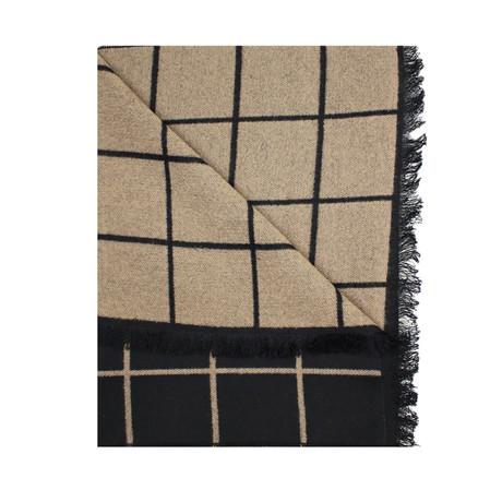 Window Pane Scarf // Black + Cream