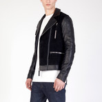 Leather Jacket // Black (L)