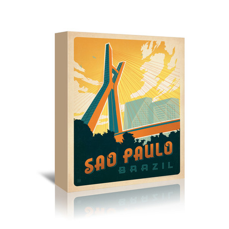 "Sao Paolo, Brazil (7""W x 5""H x 1""D)"
