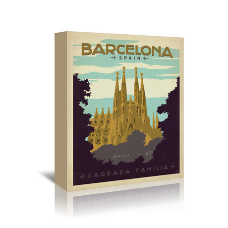 "Barcelona, Spain (5""W x 7""H x 1""D)"