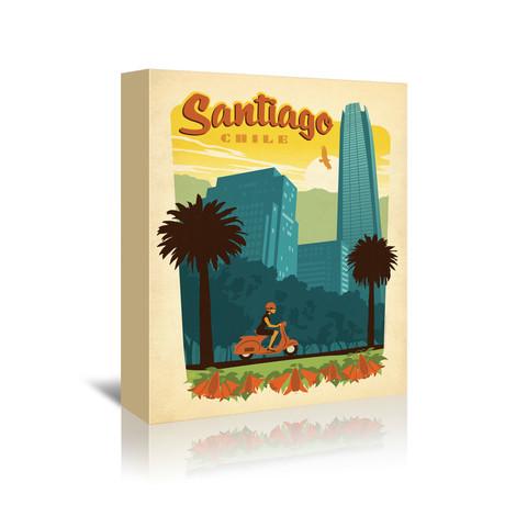 """Santiago, Chile (7""""W x 5""""H x 1""""D)"""