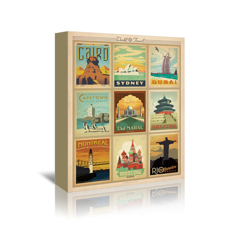 "World Travel Multi Print II (5""W x 7""H x 1""D)"