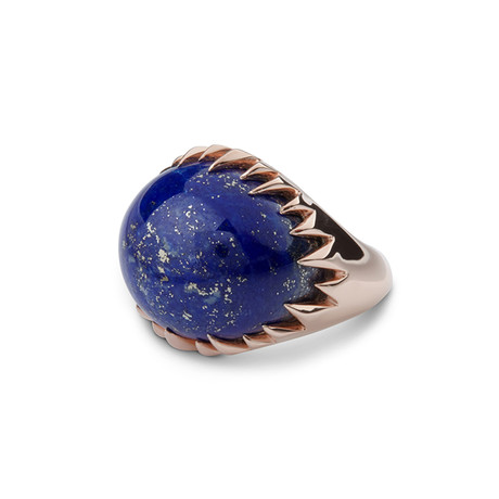 Rose Gold Lapis Ring