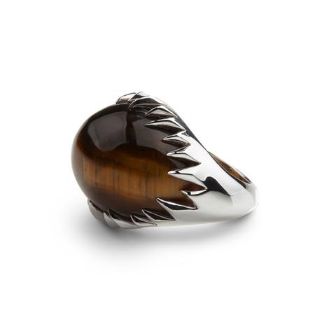 Silver Tiger Eye Ring