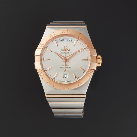 Omega Constellation Co-Axial Day Date Automatic // 123.20.38.22.02.001 // Store Display