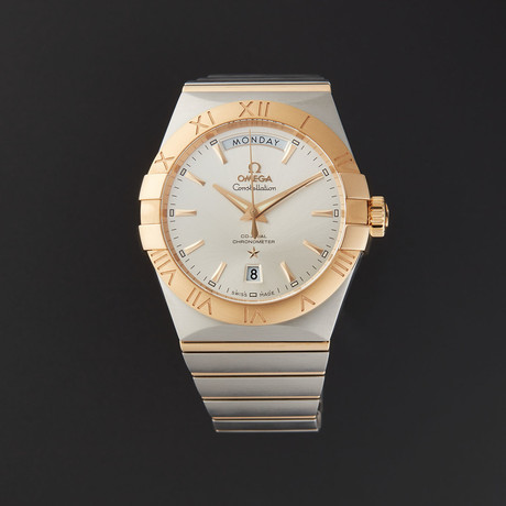 Omega Constellation Co-Axial Day Date Automatic // 123.20.38.22.02.002 // Store Display