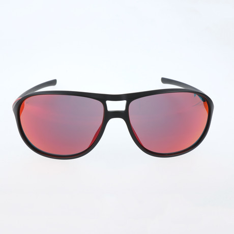 Straub Sunglasses // Black + Red + Grey