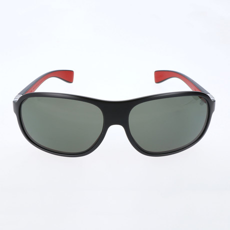 Bohler Sunglasses // Black + Red + Grey