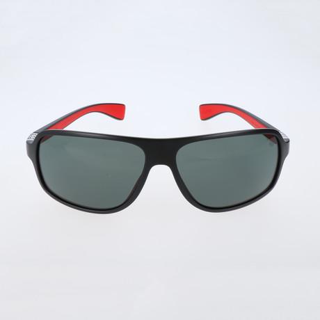 Mandel Sunglasses // Black + Red + Polar Grey
