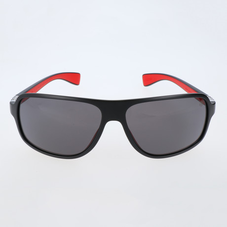 Mandel Sunglasses // Black + Red + Grey