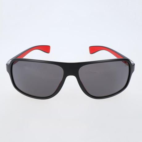 Mandel Sunglasses // Black + Red + Grey