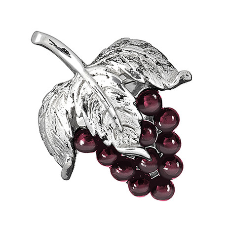 Garnet Grape Lapel Pin