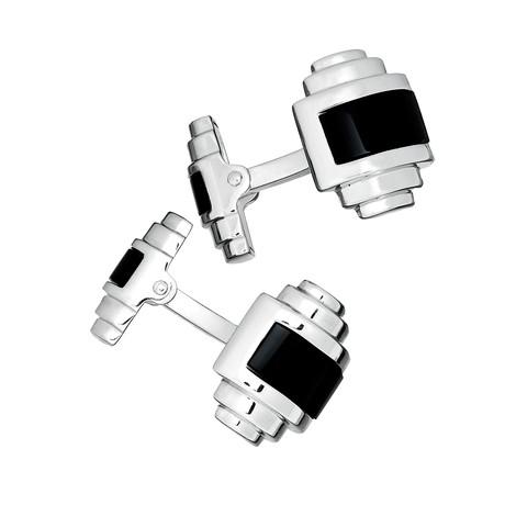 Double Sided, Onyx Inlay Cufflinks