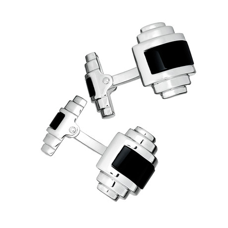 Double Sided, Onyx Inlay Cufflinks