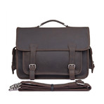 Jarvis Leather Briefcase // Brown