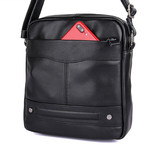 Kosner Leather Messenger Bag // Black