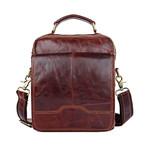 Zeifer Vintage Leather Shoulder Bag // Red Brown