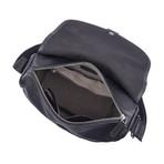 Arrison Leather Shoulder Bag (Black)