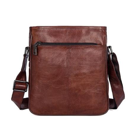 Bronn Leather Shoulder Bag // Brown