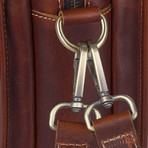 Leather Briefcase // Red Brown