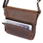 Mansk Leather Messenger Bag // Brown