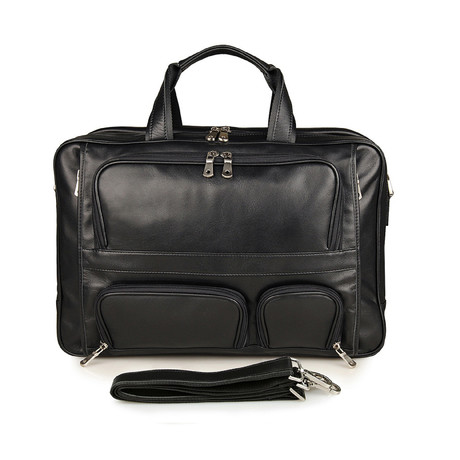 Malta Leather Briefcase (Black)