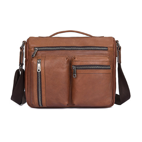 Carther Leather Briefcase (Black)