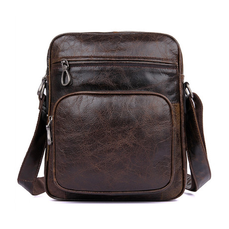 Denson Leather Shoulder Bag (Chocolate)