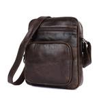 Denson Leather Shoulder Bag (Chocolate)