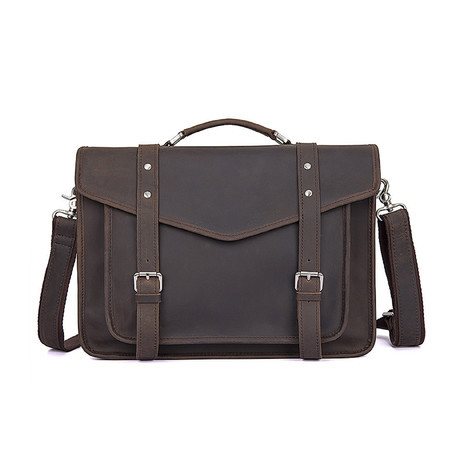 Lucius Leather Briefcase // Brown