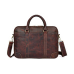 Osca Leather Bag // Chocolate