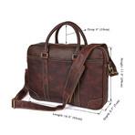 Osca Leather Bag // Chocolate