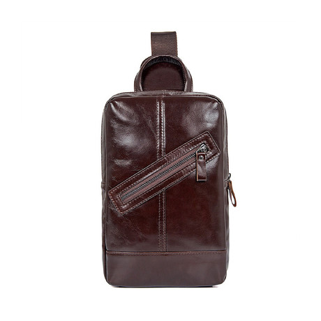 Maren Leather Chest Bag // Coffee