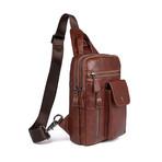 Kimbolt Leather Chest Bag // Brown