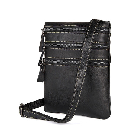 Raddis Sling Leather Bag (Black)