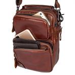 Wallis Sling Leather Bag // Brown