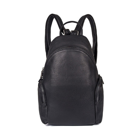 Gaslow Leather Backpack // Black