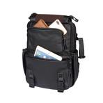 Trekk Leather Backpack // Black