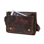 Aden Leather Messenger Bag // Brown
