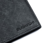 Saffiano Leather Wallet // Indigo