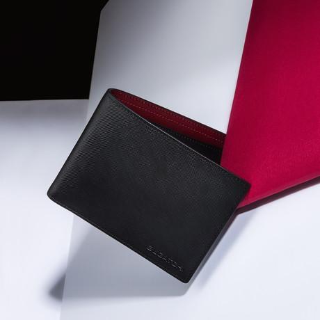 Saffiano Leather Wallet // Merlot
