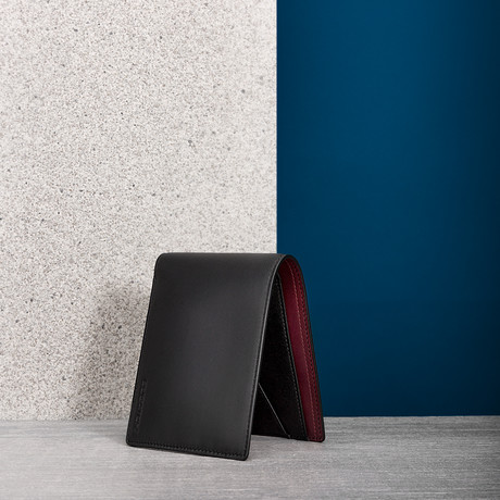 Leather Wallet // Merlot