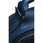 Semi Embossed Leather + Nylon Backpack // Black