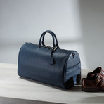 Saffiano Split Leather Duffel // Navy