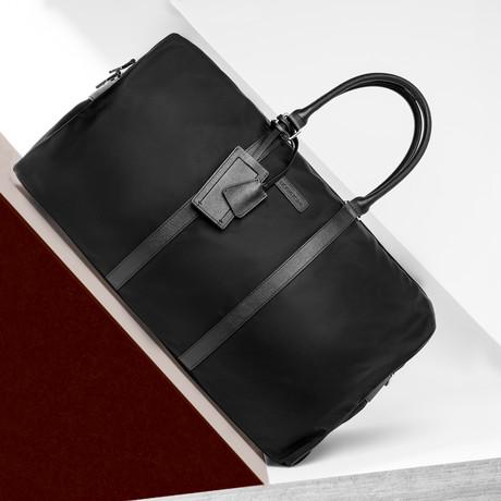 Nylon Duffel W/ Leather Trim // Black