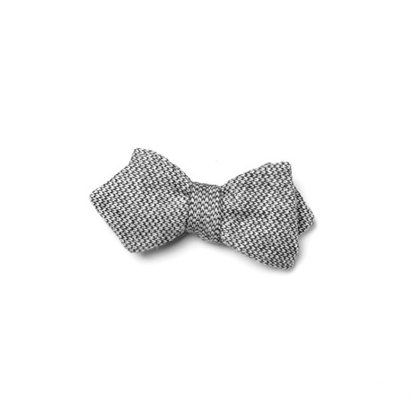 Fleming Bow Tie // Grey + White